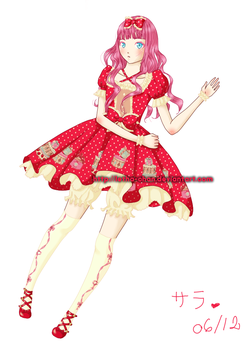 Red and Pink Lolita by Letha-chan