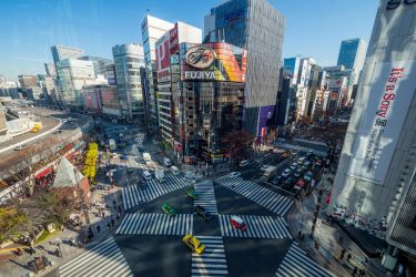 Ginza Crossing by burningmonk