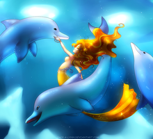 Dance of the Dolphins by Jacky-Bunny