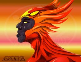 PHOENIX BUST by chriscrazyhouse