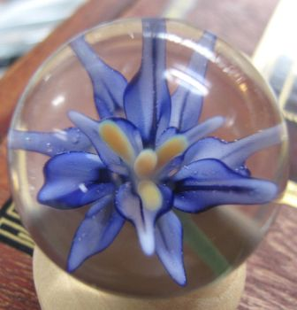 Blue Flower Marble by powersartglass