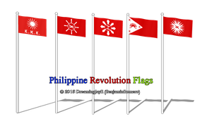 [MMD DL] Philippine Revolution Flags by BenjaminRomero