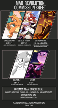 Mad-Revolution Commission Sheet *OPEN* by Mad-Revolution