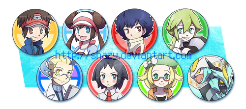 Pokemon BW2 Button Badges! -for sale- by shazy
