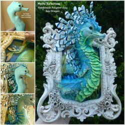 Sea Dragon Framed Sculpture by MysticReflections