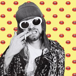 Kurt Cobain RETRO GIF by Swerdsi