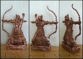 Elven Archer Sculpture by JackEavesArt