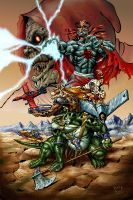 The mutants and Mumm-ra color by benyhibridos