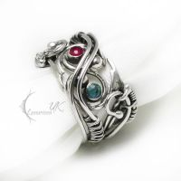 LUNTIRVILTH  - Silver, Ruby,Topaz. by LUNARIEEN