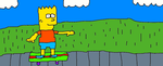 Bart Skateboarding by Simpsonsfanatic33