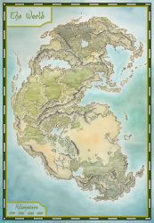 Pangea map by LingonB