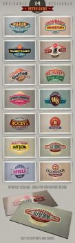 14 retro signs or banners Vol.2 by hugoo13