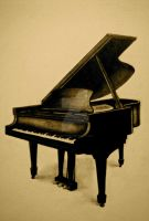 Grand Piano by eliviangrey