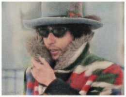 Bob Dylan in Coloured Pencil by dwightyoakamfan