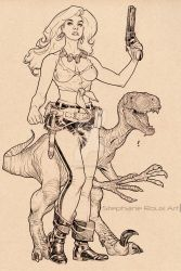 Hannah Dundee Inks from Cadillacs and Dinosaurs by StephaneRoux