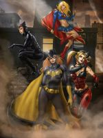 DC girls Commission by dhayman85