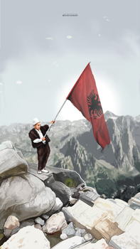 The flag of Albania by shkelqimart