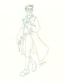 Milo Thatch Sketch by Rebmakash