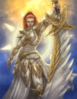 Heaven knight Card commission by Destinyfall