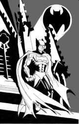 Preston Batman Black And White Web by Peter-Sefcik