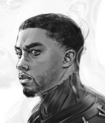 The Black Panther Sketch - Chadwick Boseman by capprotti