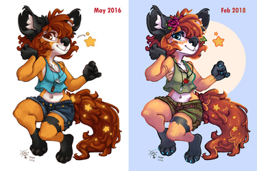 [Collab] 2 Years Difference by Leafy-Akiko