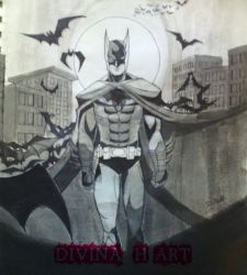 Inktober #2 Batman by Divina-H-ART