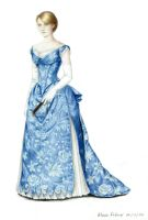 Blue Ball Gown (1885) by AlessiaPelonzi
