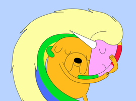 Jake and Lady Rainicorn by jesulinblablabla