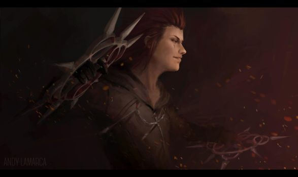 Axel - Kingdom Hearts fanart by andylamarca