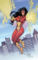 Spider-Woman with Wiacek and Campbell by mechangel2002