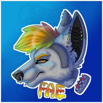 Fae Badge CBE April by ZinStone