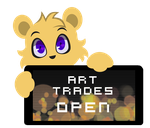 PC - Freda Art Trades Open Stamp by InkCartoon
