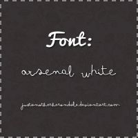 Font: Arsenale White by JustAnotherHerondale