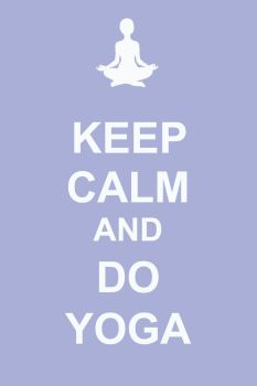 Keep calm and do yoga by Margarita-Mone