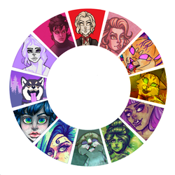 color wheel meme by RaidioactiveVampy