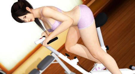 Kokoro-Morning-Workout-4 by YellowMyDevil