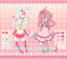 {CLOSED} Ribbons and Pom-Pom Adopts by Sleeplesssmiles