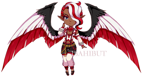 [EXTRA] Chibi Demon Girl adopt by ibahibut