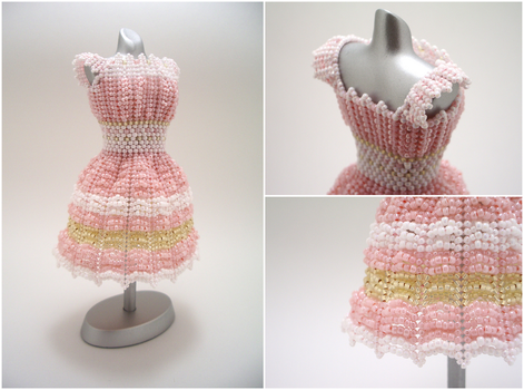 Sweet Cottage Chic Bead Dress by pinkythepink