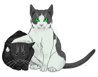 Morgana and Gigi by Mespehria