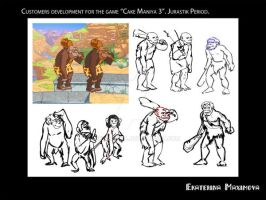 Character design for CCM2 project. Caveman by gekatarina