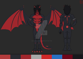 Hollow Darknight's ref by hollowthedragon