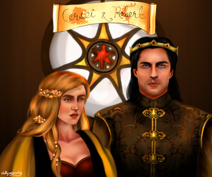 Cersei and Robert by chillyravenart