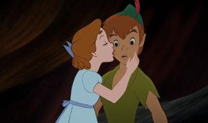Wendy Peter Pan A Suprising kiss by Rapunzel-Magic-Frost