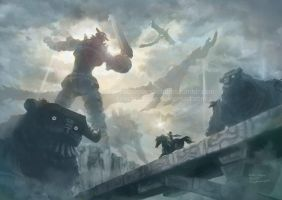 Shadow of the colossus by tinysaucepan