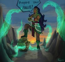 Illaoi fan art by edwo
