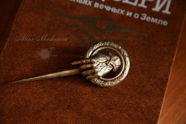 Hand of the King Pin - Polymer Clay by Krinna