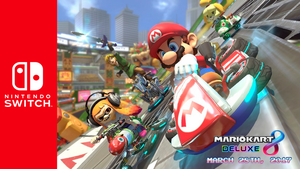 Nintendo Switch x Mario Kart 8 DELUXE wallpaper by SonicAlexanderDX97