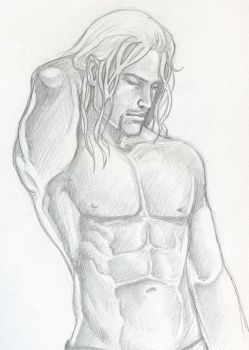 Thor-pencil by Jolyne9
